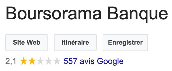 Avis Boursorama Banque Google