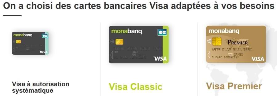 Avis cartes bancaires Monabanq