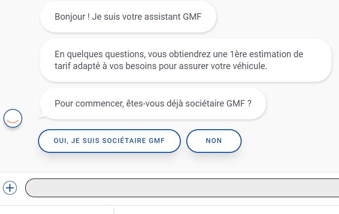 Initialisation devis assurance auto GMF
